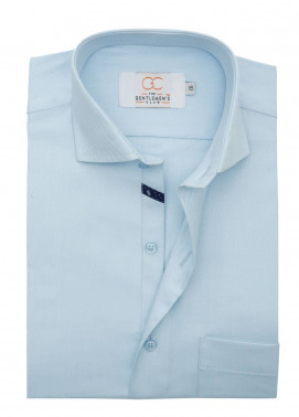 The Gentlemen's Club Cotton Formal Shirts for Men - Sky Blue White Label 4082 - 18