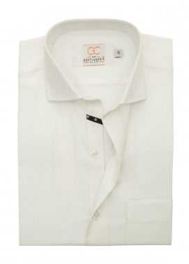 The Gentlemen's Club Cotton Formal Men Shirts - Off White White Label 4088 - 18.5