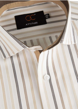 The Gentlemen's Club Cotton Formal Style Shirts for Men - Brown Attitude 5041 - 18.5