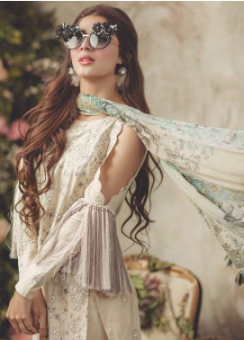Noor By saadia asad Embroidered Lawn Unstitched 3 Piece Suit SA18L 05 GLAZED - Luxury Collection