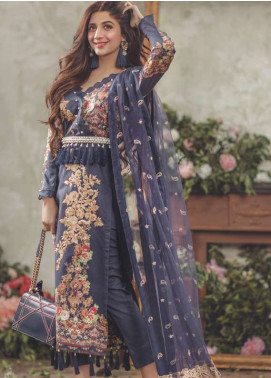 Noor By saadia asad Embroidered Lawn Unstitched 3 Piece Suit SA18L 07 KASHMIRI FLING - Luxury Collection