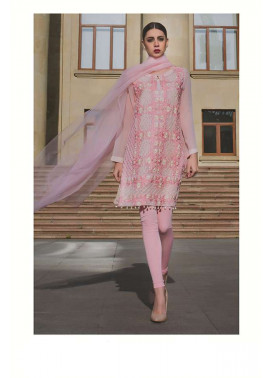 Areeba Saleem Embroidered Chiffon Unstitched 2 Piece Suit AS17C 05