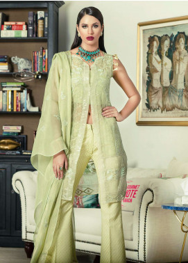 Aamna Aqeel Embroidered Silk Unstitched 3 Piece Suit AA18S 05 - Festive Collection