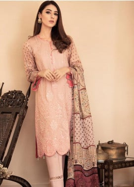 Aabyaan Embroidered Lawn Unstitched 3 Piece Suit AB20FL 01 Shaista - Summer Collection