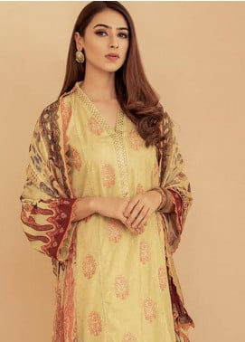 Aabyaan Embroidered Lawn Unstitched 3 Piece Suit AB20FL 03 Sehar - Summer Collection