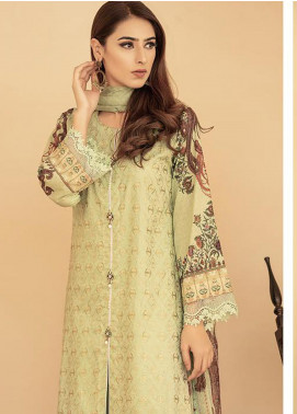 Aabyaan Embroidered Lawn Unstitched 3 Piece Suit AB20FL 04 Jazmin - Summer Collection