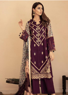 Aabyaan Embroidered Lawn Unstitched 3 Piece Suit AB20FL 09 Maya - Summer Collection