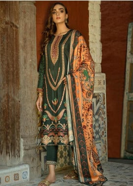 Aabyaan Embroidered Viscose Silk Unstitched 3 Piece Suit ABY20VS 02 Beyza - Winter Collection