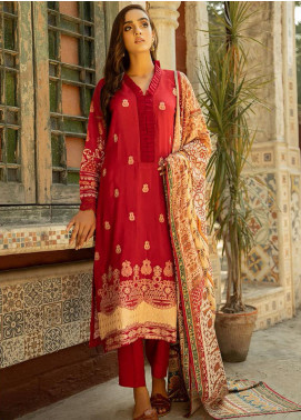 Aabyaan Embroidered Viscose Silk Unstitched 3 Piece Suit ABY20VS 06 Shahinaz - Winter Collection