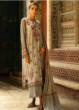 Aabyaan Embroidered Viscose Silk Unstitched 3 Piece Suit ABY20VS 08 Joozher - Winter Collection