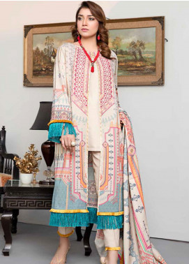 Dhanak by Aayra Embroidered Dhanak Unstitched 3 Piece Suit AY20D 02 - Winter Collection