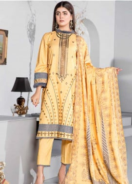 Dhanak by Aayra Embroidered Dhanak Unstitched 3 Piece Suit AY20D 04 - Winter Collection
