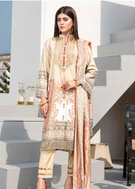 Dhanak by Aayra Embroidered Dhanak Unstitched 3 Piece Suit AY20D 09 - Winter Collection