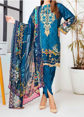 Aayra Embroidered Linen Unstitched 3 Piece Suit AY20WL 01 - Winter Collection