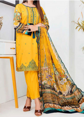 Aayra Embroidered Linen Unstitched 3 Piece Suit AY20WL 02 - Winter Collection