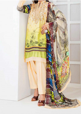 Aayra Embroidered Linen Unstitched 3 Piece Suit AY20WL 04 - Winter Collection