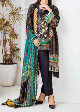 Aayra Embroidered Linen Unstitched 3 Piece Suit AY20WL 05 - Winter Collection