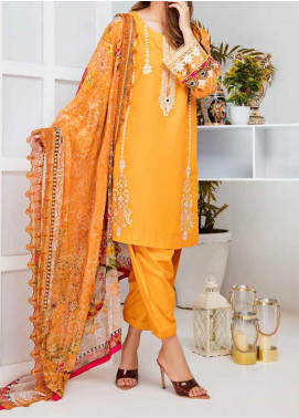 Aayra Embroidered Linen Unstitched 3 Piece Suit AY20WL 08 - Winter Collection