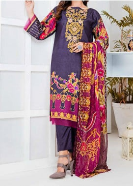 Aayra Embroidered Linen Unstitched 3 Piece Suit AY20WL 09 - Winter Collection