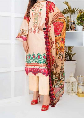 Aayra Embroidered Linen Unstitched 3 Piece Suit AY20WL 10 - Winter Collection
