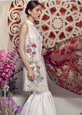 Aayra Embroidered Lawn Unstitched 3 Piece Suit AY19L 03B - Spring / Summer Collection