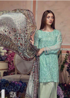 Aayra Embroidered Lawn Unstitched 3 Piece Suit AY19L 04B - Spring / Summer Collection
