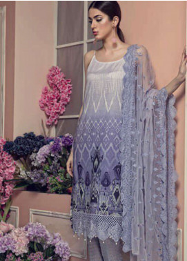 Aayra Embroidered Lawn Unstitched 3 Piece Suit AY19L 08A - Spring / Summer Collection