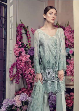 Aayra Embroidered Lawn Unstitched 3 Piece Suit AY19L 08B - Spring / Summer Collection