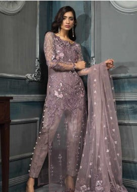 Aayra Embroidered Net Unstitched 3 Piece Suit AY19C 1 - Luxury Collection