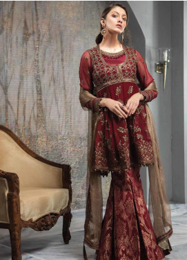 Aayra Embroidered Pure Chiffon Unstitched 3 Piece Suit AY19C 2 - Luxury Collection