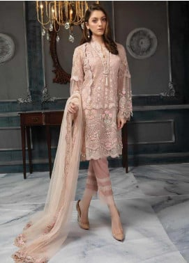Aayra Embroidered Net Unstitched 3 Piece Suit AY19C 3 - Luxury Collection
