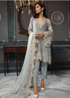 Aayra Embroidered Pure Chiffon Unstitched 3 Piece Suit AY19C 4 - Luxury Collection