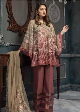 Aayra Embroidered Organza Unstitched 3 Piece Suit AY19C 6 - Luxury Collection