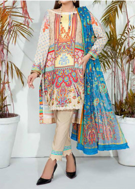 Aayra Printed Schiffli Unstitched 3 Piece Suit AY20W 02 Spring Ice - Winter Collection