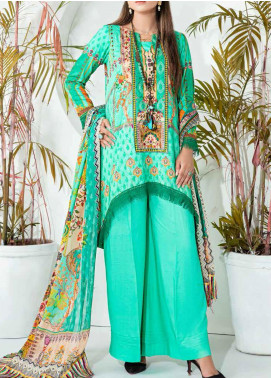 Aayra Printed Schiffli Unstitched 3 Piece Suit AY20W 03 Floral Illusions - Winter Collection