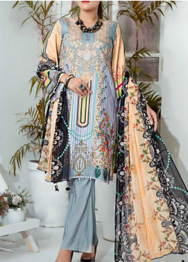 Aayra Printed Schiffli Unstitched 3 Piece Suit AY20W 04 Evening Promise - Winter Collection
