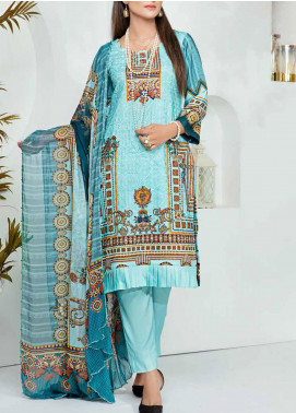 Aayra Printed Schiffli Unstitched 3 Piece Suit AY20W 06 Uber Chic - Winter Collection