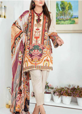 Aayra Printed Schiffli Unstitched 3 Piece Suit AY20W 07 Color Dash - Winter Collection