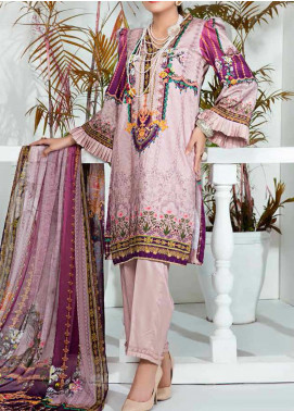 Aayra Printed Schiffli Unstitched 3 Piece Suit AY20W 10 Wild Flower - Winter Collection