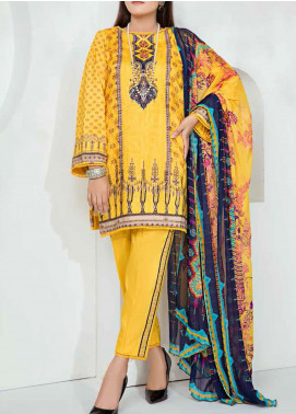Aayra Printed Schiffli Unstitched 3 Piece Suit AY20W 11 Golden Hour - Winter Collection