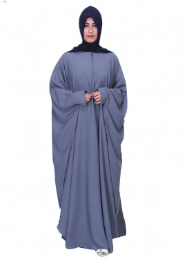 Grey Georgette Kaaftaan Style Abaya for Women - ABY18 014