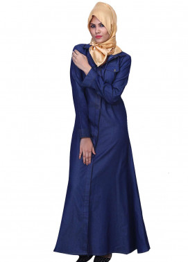 Blue Denim Maxy Style Abaya for Ladies - ABY18 015