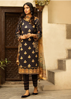 Abyaan Embroidered Lawn Unstitched 3 Piece Suit ABY20L 2 - Luxury Collection