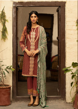 Abyaan Embroidered Lawn Unstitched 3 Piece Suit ABY20L 3 - Luxury Collection
