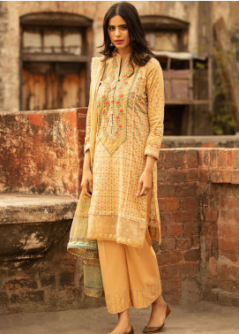 Abyaan Embroidered Lawn Unstitched 3 Piece Suit ABY20L 4 - Luxury Collection
