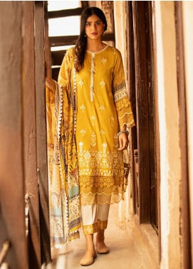 Abyaan Embroidered Lawn Unstitched 3 Piece Suit ABY20L 8 - Luxury Collection