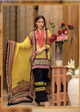 Arisha Chowdary BY ZS Embroidered Cotton Unstitched 3 Piece Suit AC17M 3B