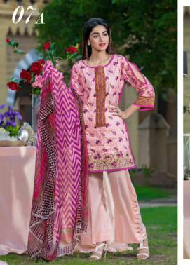 Arisha Chowdary BY ZS Embroidered Cotton Unstitched 3 Piece Suit AC17M 7A