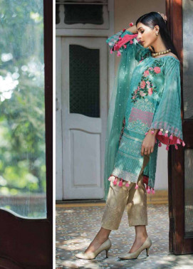 Arisha Chowdary BY ZS Embroidered Organza Unstitched 2 Piece Suit AC17S 03