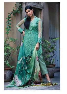 Arisha Chowdary BY ZS Embroidered Chiffon Unstitched 2 Piece Suit AC17S 07